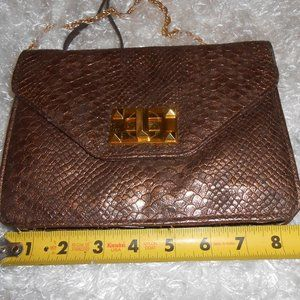 Jessica Simpson crossbody metallic bronze purse
